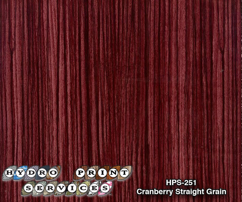 HPS-251 Cranberry Straight Grain (Ford, Caddilac Match)